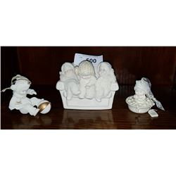 THREE SNOWBABIES FIGURINES