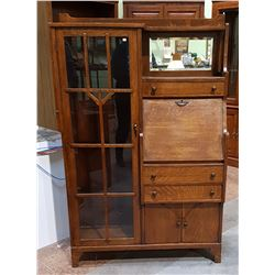 ANTIQUE AMERICAN OAK SIDE BY SIDE SECRETAIRE