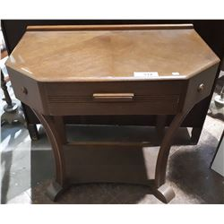ART DECO WALNUT HALL TABLE