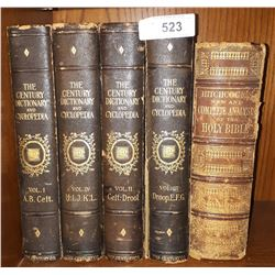 FIVE ANTIQUE BOOKS