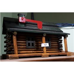 NOVELTY LOG CABIN MAIL BOX