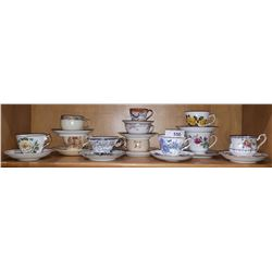 11 CHINA TEACUPS/SAUCERS