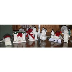 SIX SMALL SNOWBABIES FIGURINES