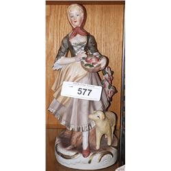 PORCELAIN LADY FIGURINE
