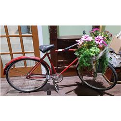 VINTAGE PHILLIPS BICYCLE W/BASKET