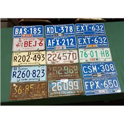 APPROX 15 VINTAGE LICENSE PLATES