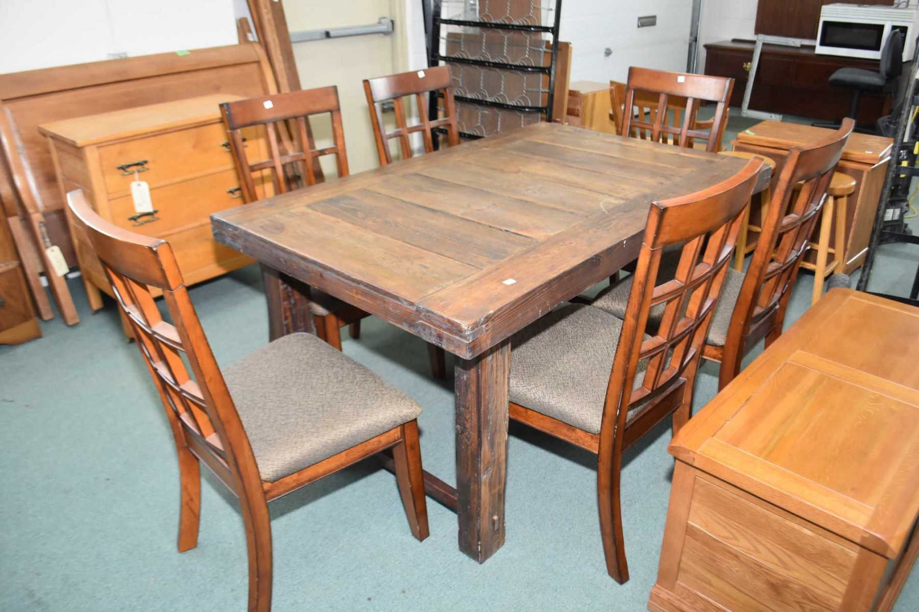 Image 1 handcrafted rustic style dining table assembled without the use of nails or screws