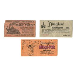 Collection of (3) Disneyland Tickets.