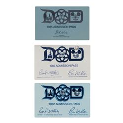 Collection of (3) Disney Parks Admission Passes.