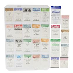 Collection of (26) Fastpass & (2) Readmission Tickets.