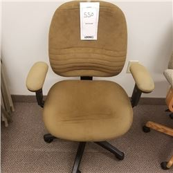 CLOTH OFFICE CHAIR/BEIGE/ADJUSTABLE