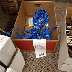 LOT OF APPROX 40 COMPUTER/CAT/CABLES/BLUE