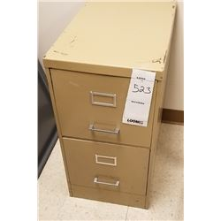 BEIGE 2 DRAWER METAL FILING CABINET