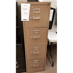 COPPER UPRIGHT FILING CABINET/4 DRAWERS/LOCKABLE BUT NO KEY