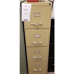 BEIGE VERTICAL 4 DRAWER FILE CABINET