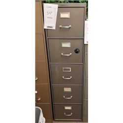 "GRAY VERTICAL 5 DRAWER FILE CABINET ""SHAW WALKER"""