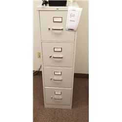 "WHITE VERTICAL 4 DRAWER FILE CABINET ""HON"""