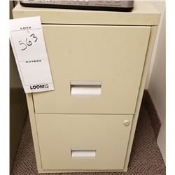 SMALL BEIGE VERTICAL 2 DRAWER FILING CABINET