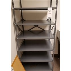 LARGE GRAY METAL 6 SHELF STORAGE RACK