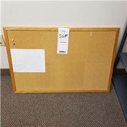 WALL MOUNTED CORK TASK BOARD WITH WOOD FRAME