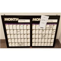 WALL MOUNTED ERASABLE CALENDAR