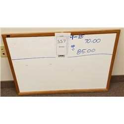 BUNDLE LOT: WALL MOUNTED ERASABLE & MAGNETIC TASK BOARDS FRAMED IN WOOD X3