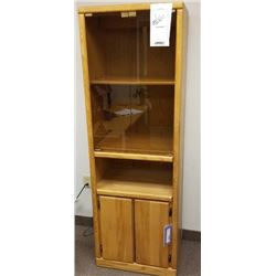 LARGE PIER CABINET WITH GLASS DOORS/RETAIL $359.95/DIMENSIONS 24 X 72 X 17