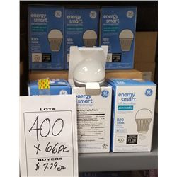 LOT OF ENERGY SMART R20 3000K LIGHT BULBS/RETAIL $7.99