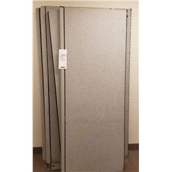 LOT OF A 4 PIECE FABRIC AND METAL CUBICAL DIVIDER