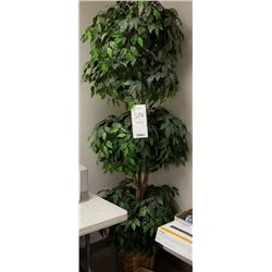 LARGE ARTIFICIAL TREE/PLANT WITH CONTAINER BASKET