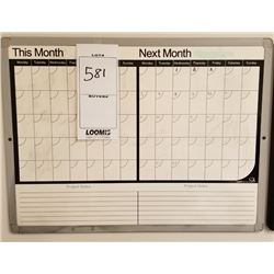 2 MONTH ERASABLE CALENDAR WALL MOUNTED