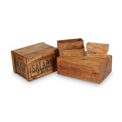 Wooden Advertising Boxes & Crates