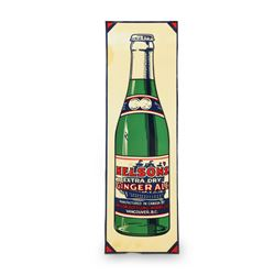 Nelson's GInger Ale Tin Palm Push