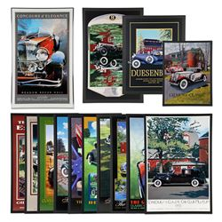 Framed Classic Car Posters