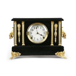 Sessions Faux Ebony Clock