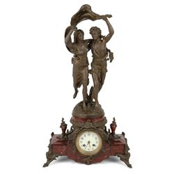 French Figural Marble Clock