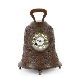 "Howard & Co. Bronze ""Bell"" Clock"
