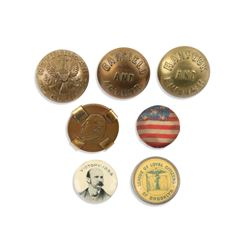 US Political Uniform Buttons, Collar Studs