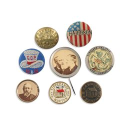 Political Lapel Studs, Uniform Button, Pinback