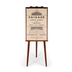 1937 Packard 8 & 12 Tech Chart & Easel