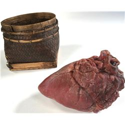 """""""Regina Mills"""" First Curse basket and prop steed's heart from Once Upon a Time Season 1, Episode 2."""