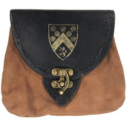 """""""Prince Charming"""" coat of arms stamped pouch and his mother's necklace from Once Upon a Time."""