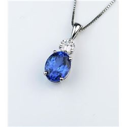18CAI-8 TANZANITE  DIAMOND PENDANT