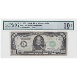 CURRENCY: (1) $1,000 currency bill, #I00011881A
