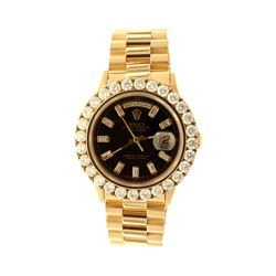ROLEX: [1] 18k yellow gold Rolex Oyster Perpetual DayDate President with aftermarket diamonds; 36mm