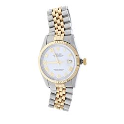 ROLEX: [1] 18k yellow gold & stainless steel Rolex Oyster Perpetual DateJust 36 watch, 36mm case, wh