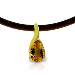 Genuine 4.7 ctw Citrine Necklace Jewelry 14KT Yellow Gold - REF-32W3Y