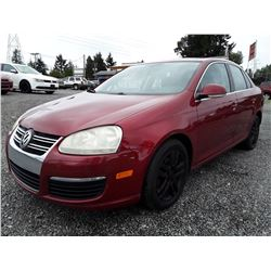 """A7 --  2006 VW Jetta , Red , 226676  KM's   """"No Reserve - Selling to the Highest Bidder"""""""