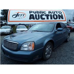"""A1 --  2000 Cadillac Deville , Blue , 256248  KM's  """"No Reserve - Selling to the Highest Bidder"""""""