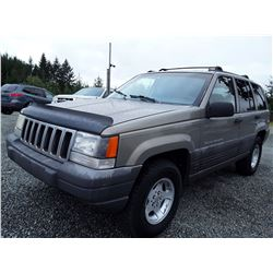 """A5 - 1997 Jeep Grand Cherokee , Grey , 189,263 MILES   """"No Reserve - Selling to the Highest Bidder"""""""